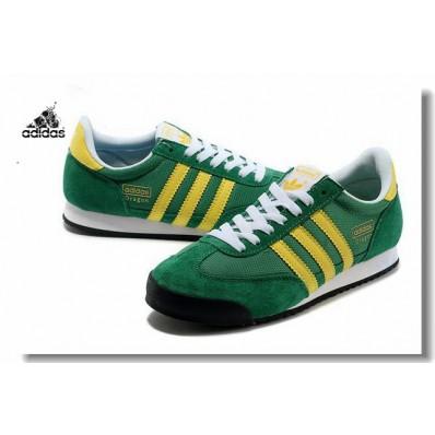 adidas dragon vert jaune