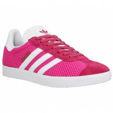 adidas gazelle noir et rose femme