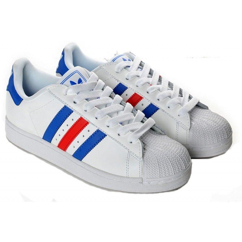 adidas superstar bleu blanc rouge homme,adidas superstar bleu ...